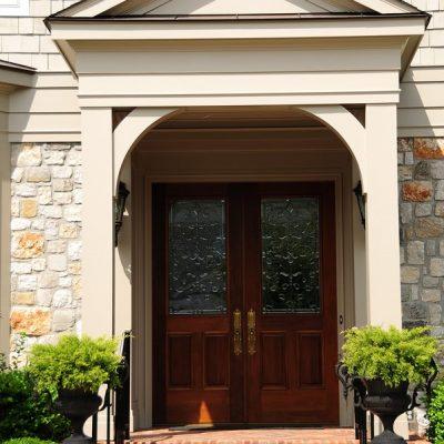 Leaded Glass Entry Door
